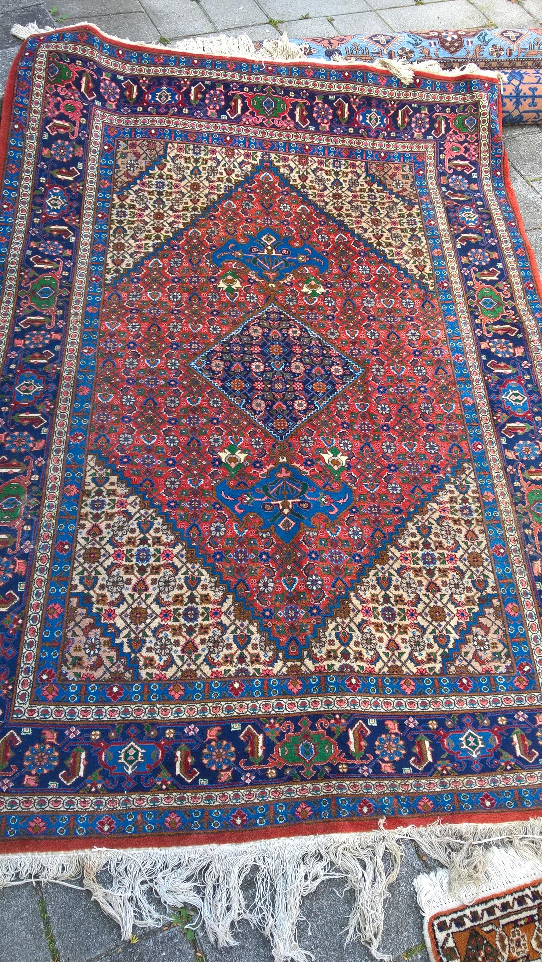 Flot persisk Maslaghan tæppe fra Hamadan 211 x 147 cm