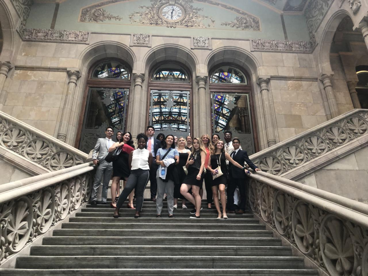 Jenna and her Fellows in Barcelona
