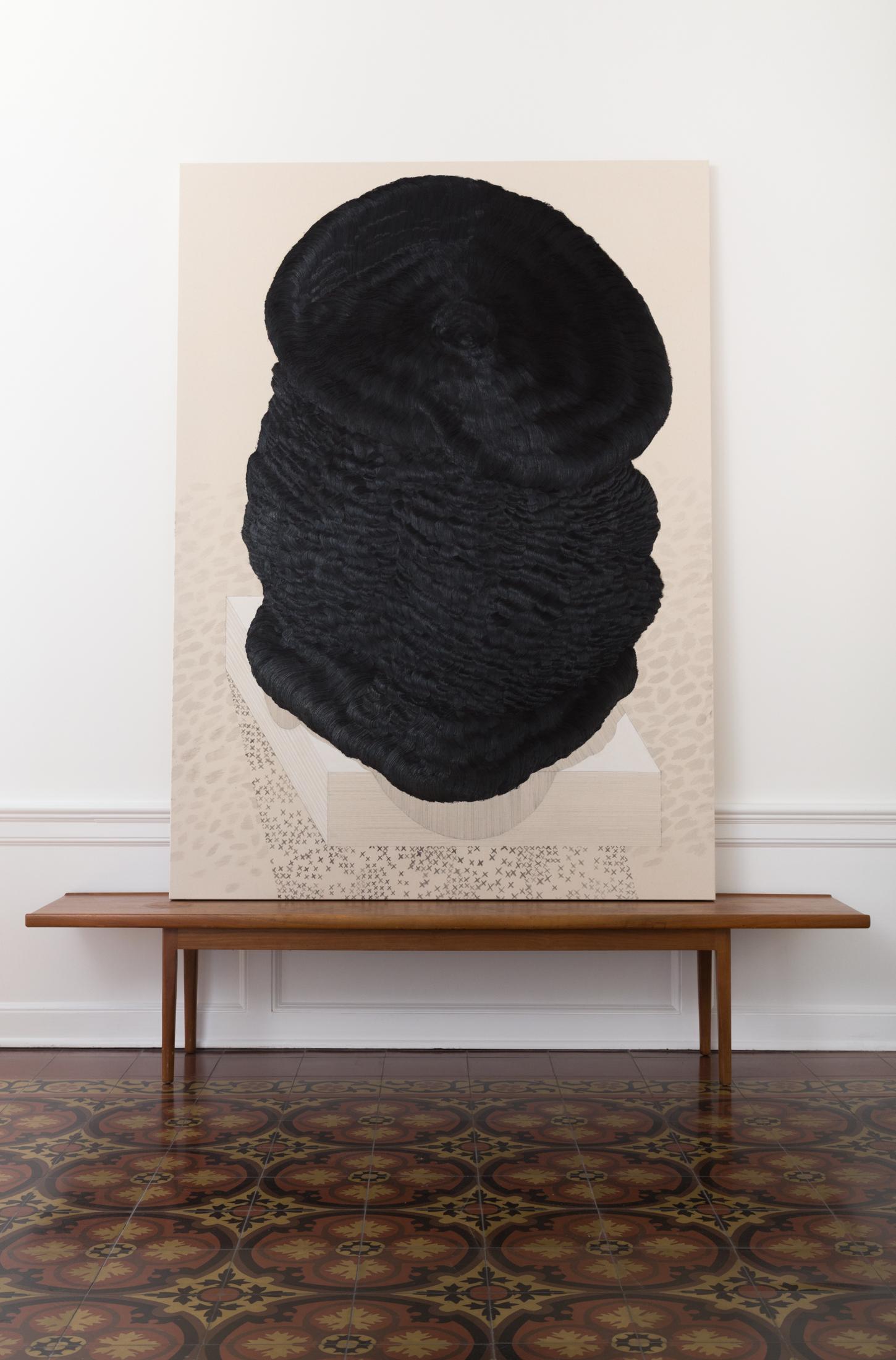 Joshua Miller,  Figure Dissociation, No. 3. 2016. Oil on linen. 71 3/4 in. x 52 in.