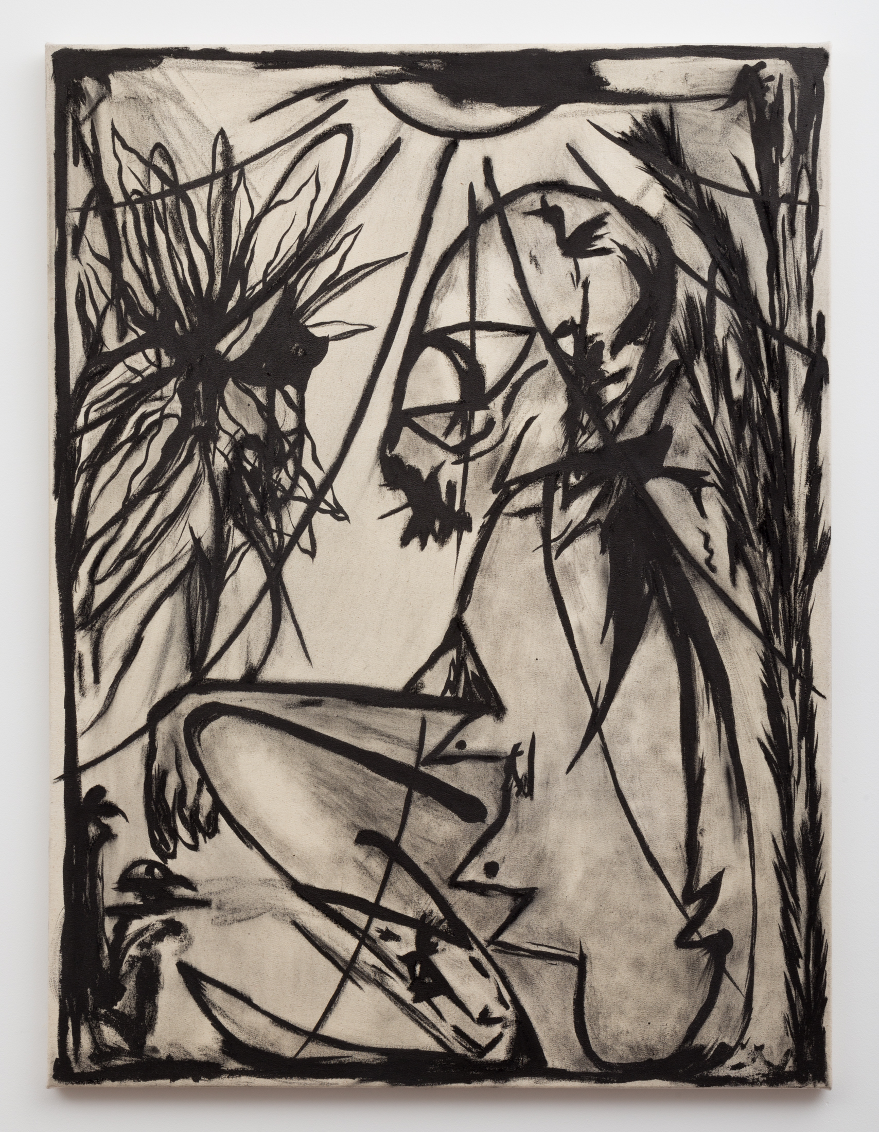 Daniel Gibson,  Don't worry, nature always wins, 2017. Graphite, charcoal, sumi ink on linen.