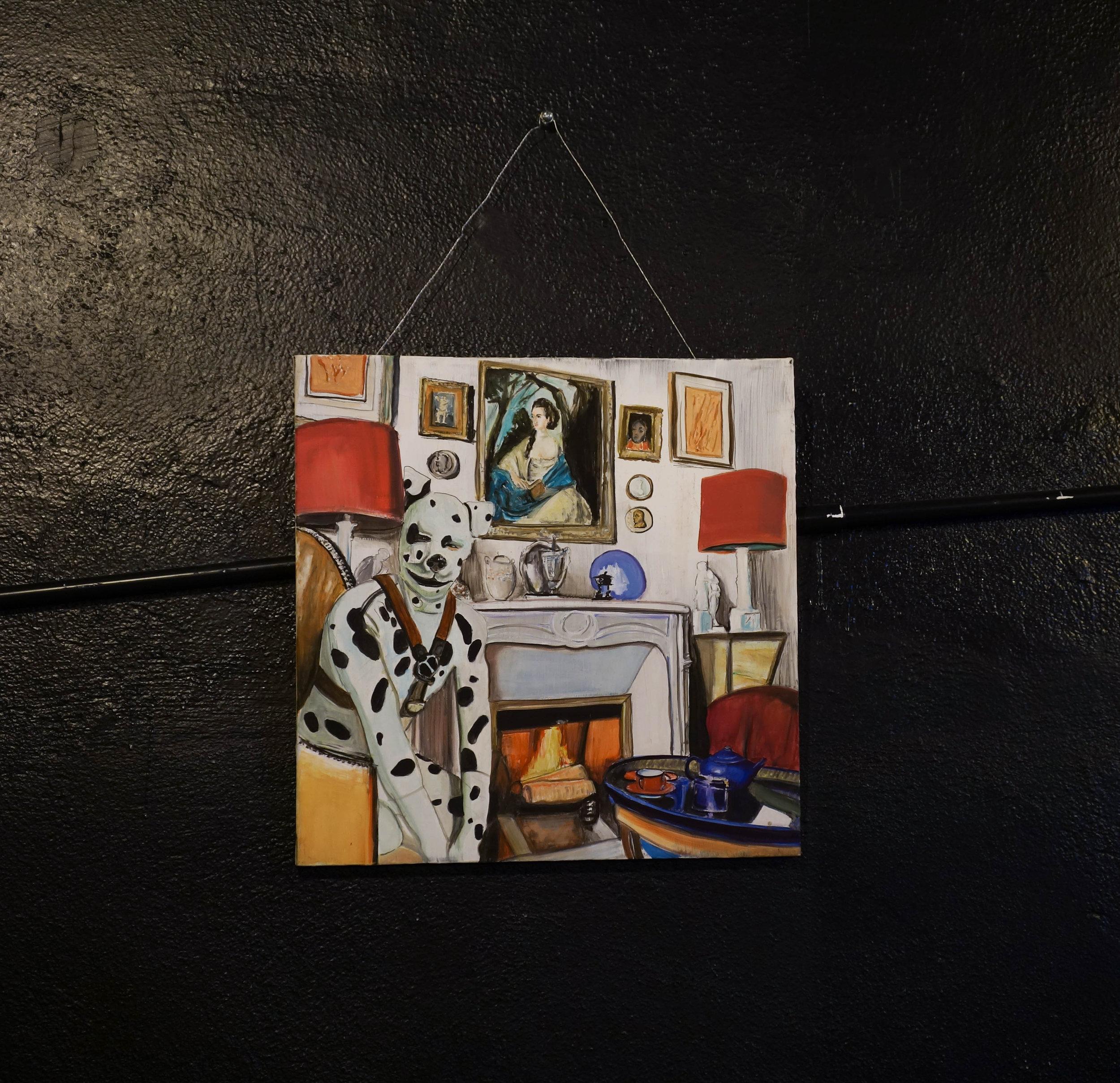 Hanspeter (Hampi), 2017. Oil on canvas. 20 in. x 20 in. (50.80 cm. x 50.80 cm.)