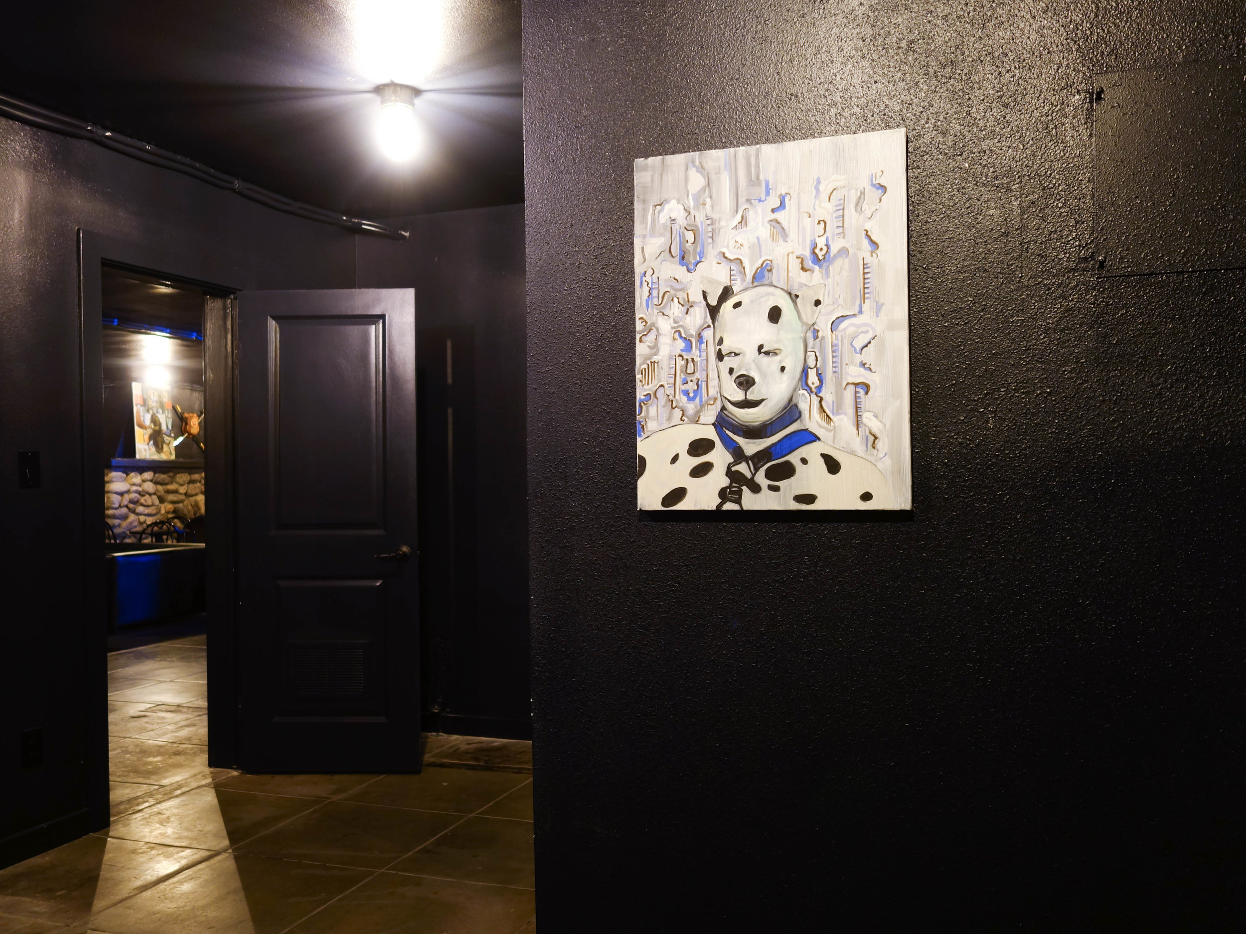 Powder Puff Puppy Man , 2017. Oil on canvas. 24 in. x 18 in. (60.96 cm. x 45.72 cm.)