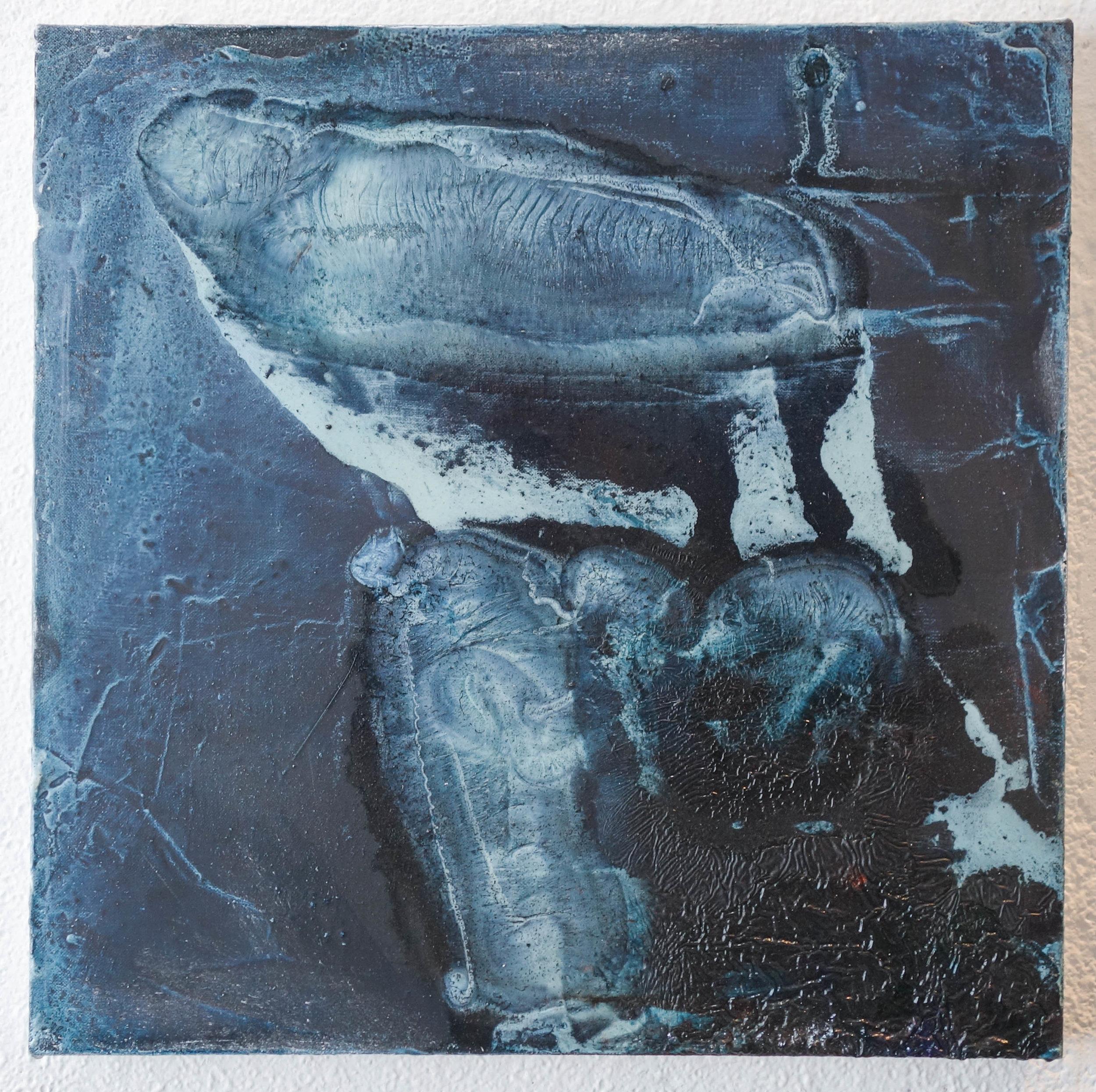 """Tiffany Livingston, """"...for Stonehenge"""", 2018. 17 in. x 17 in. Oil on linen."""