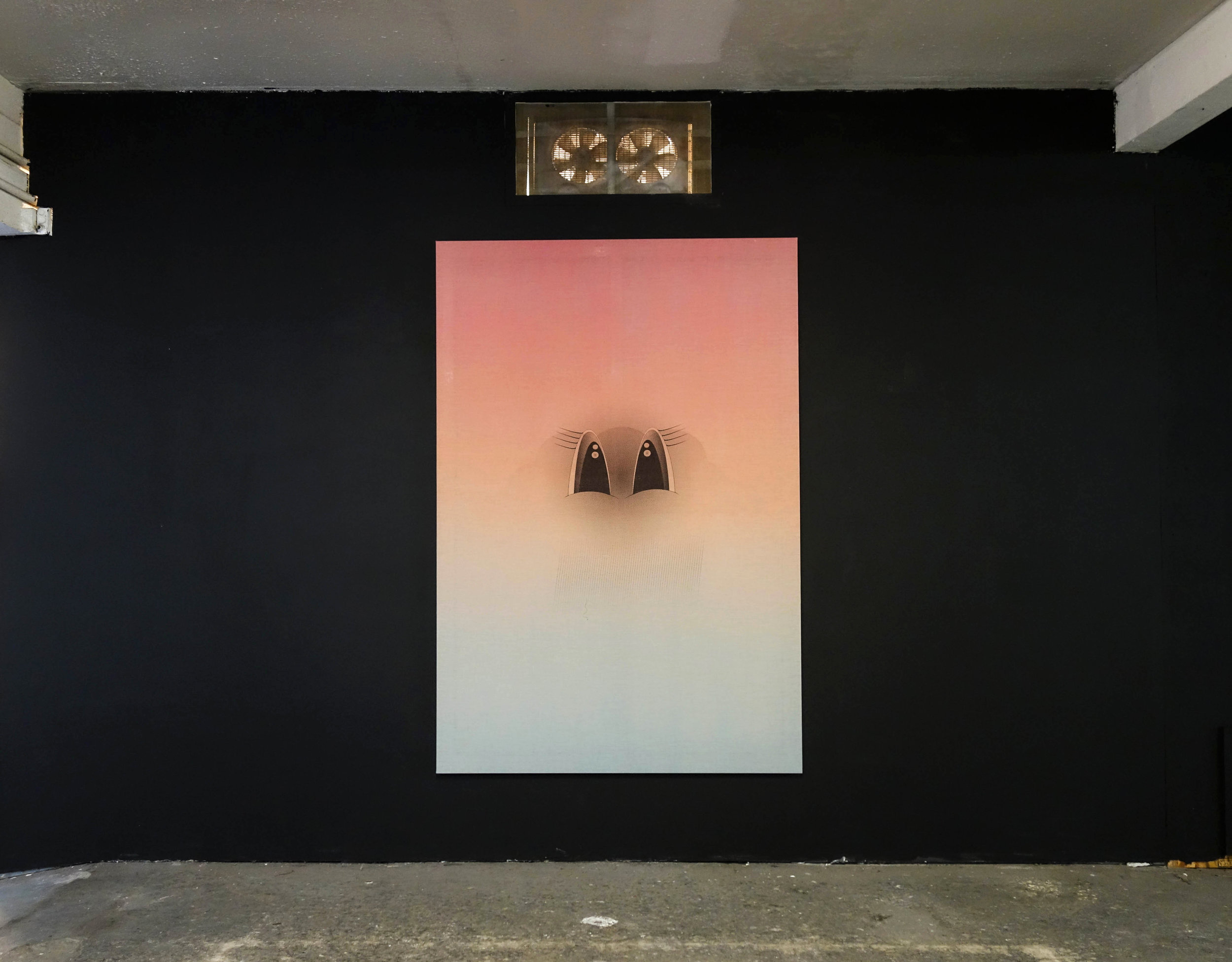 """Adam Rabinowitz, """"Untitled (cloud)"""", 2018. 77.5 in. x 52.25 in. Liquid acrylic & silkscreen ink on linen."""