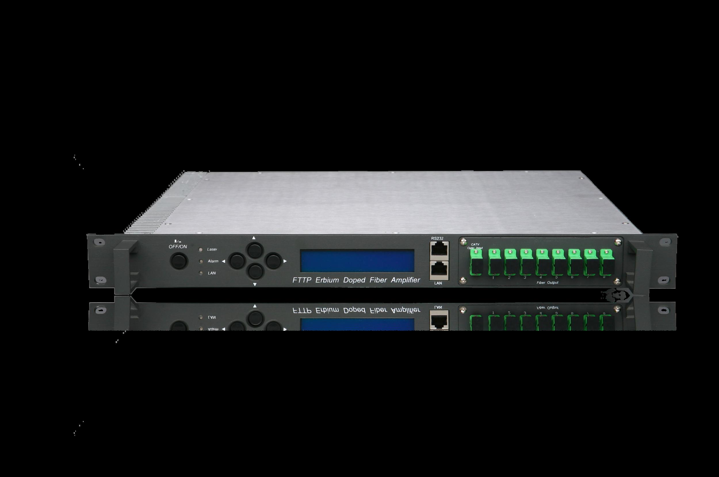 High Powered Optical Amplifier EDFA ERBIUM doped fiber amplifier fiber hfc taikan scte