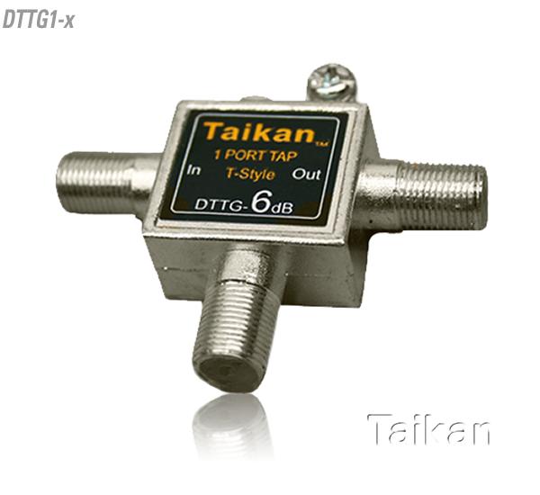 T Shape Tap 5 - 1002 MHz Bandwidth IEEE Drop Passives Cable Premise Taikan SCTE