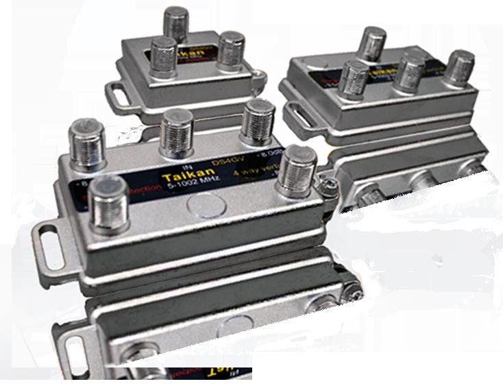 2 4 6 & 8 port drop taps 1002 MHz Bandwidth vertical housing broadband cable premise Taikan SCTE