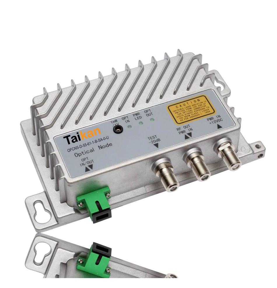 OFCNS mini node single fiber optical node sc/apc connector fiber hfc taikan scte