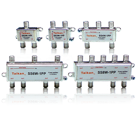 SSxW-xPP_C2 satellite splitter 2, 3, 4, 6 and 8 way taikan scte for network infrastructure equipment and hardware