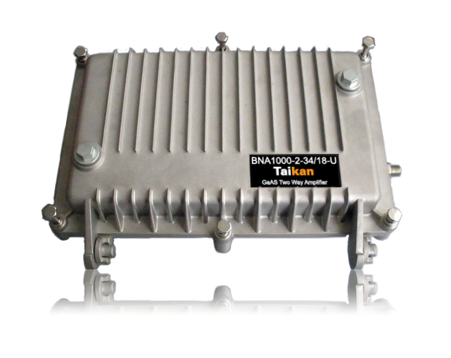 BNA1000 1 ghz 2 way line amplifier for broadband cable network by taikan scte iso