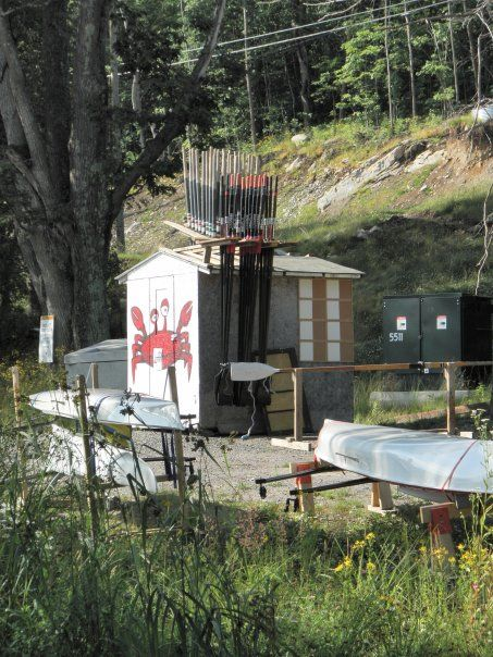 A shot of the crab shack from another angle. Complete with racking off to the side in the parking lot at Wallace Marine for boat storage. I can only imagine what my colleagues from the job I left as an Engineer were thinking at this point.