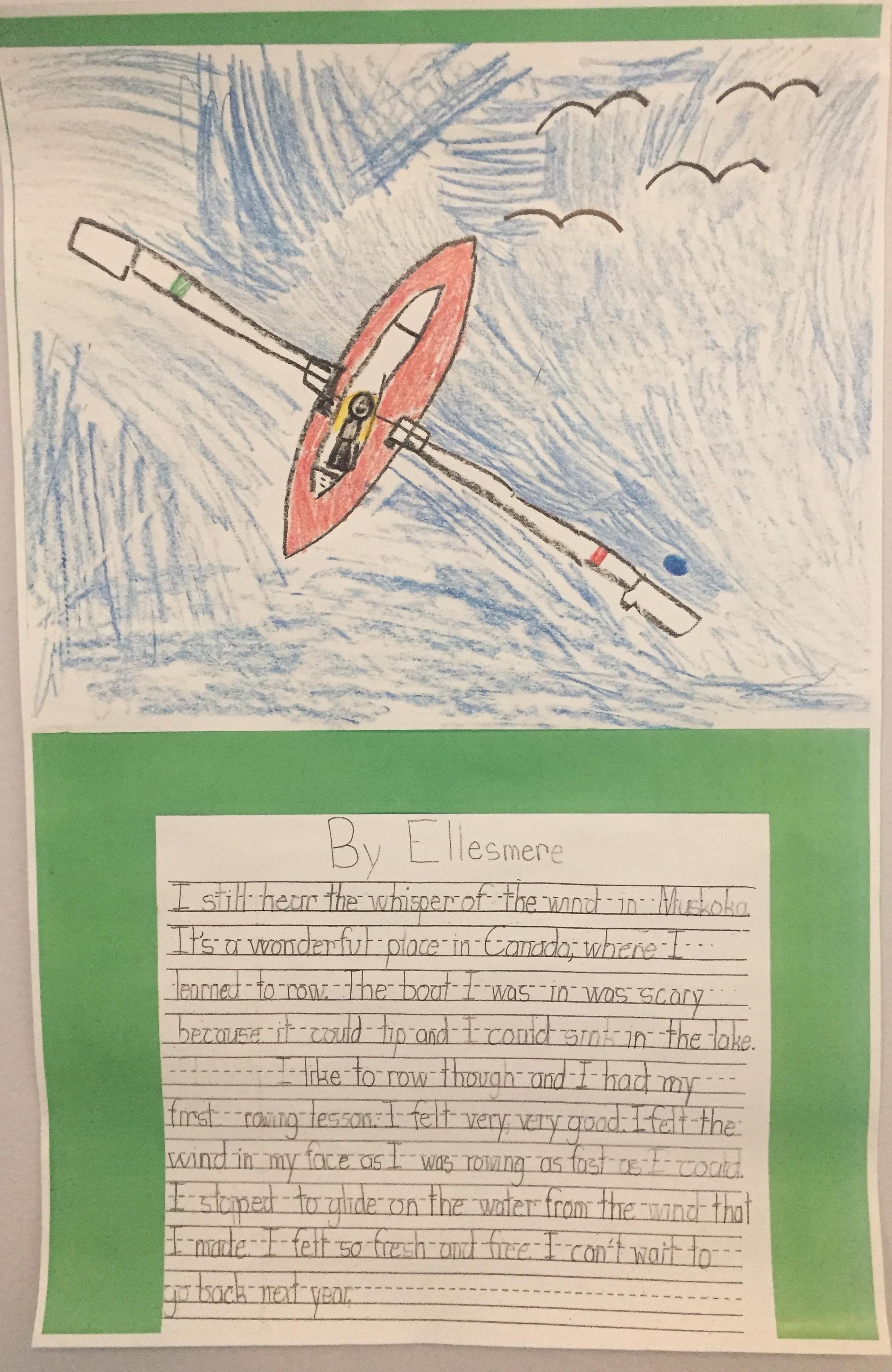 Ellesmere's Grade 2 School Work