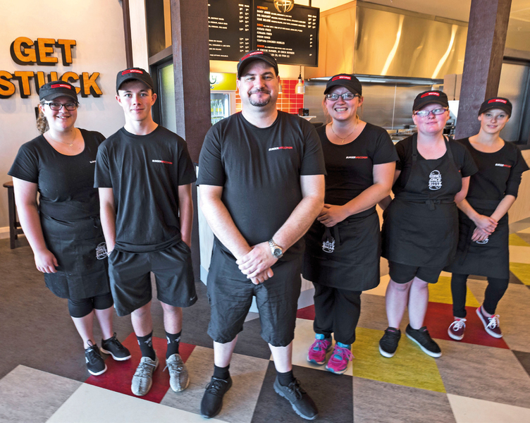 Burger Wisconsin Papanui team