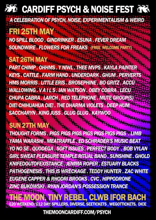 Cardiff Psych & Noise Fest - Saturday 26th May - Tiny Rebel, Cardiff