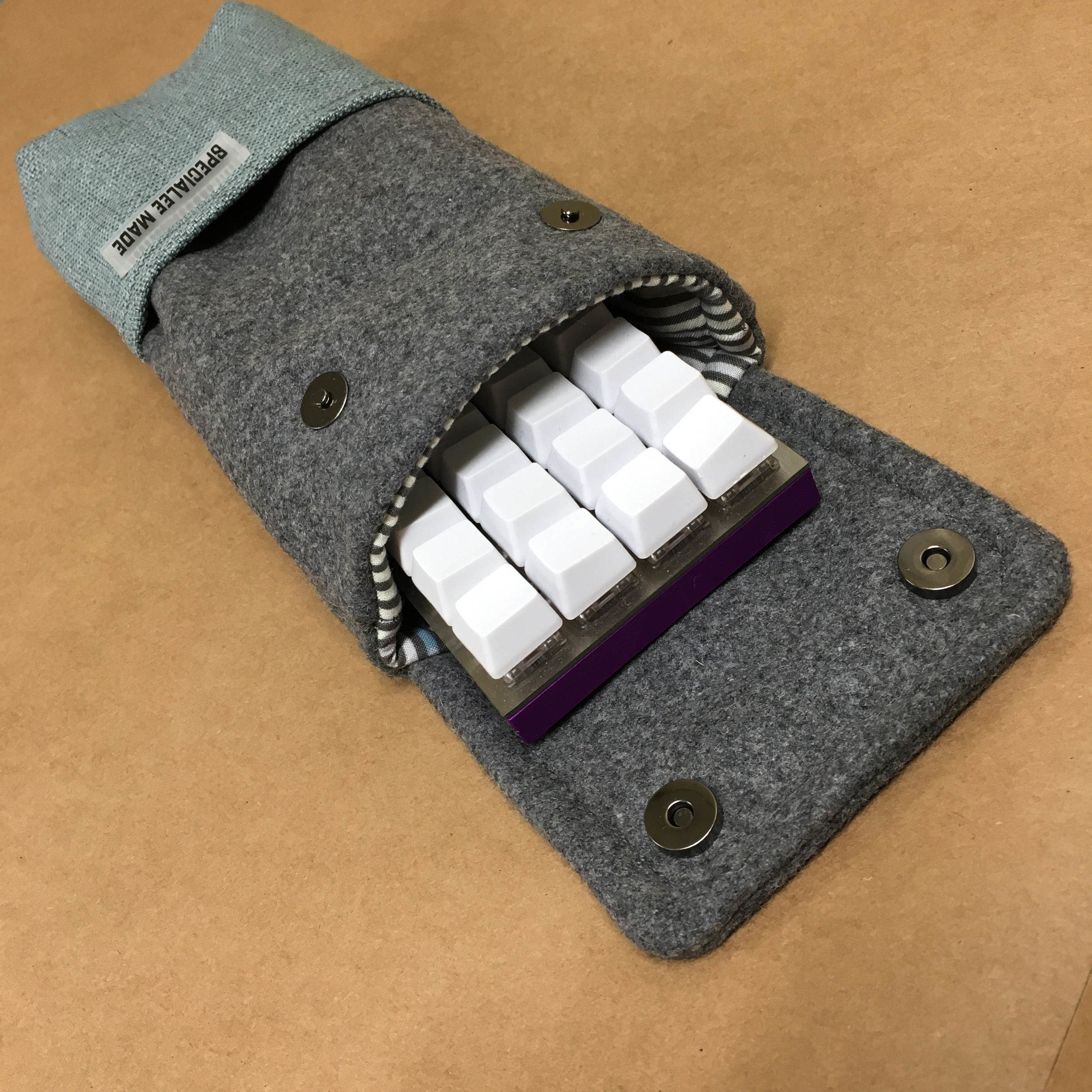 MAGNETIC FLAP STYLE: SQUARE - The flap will have a more square-ish shape with two magnetic buttons (40% sleeves may only have 1 button).