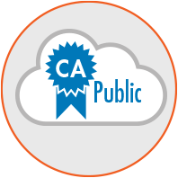 Trusted Community Public PKI - Enable your users to authenticate and securely exchange documents with trusted communities such as US Government Federal Brige, SAFE-BioPharma, or Publicly Trusted Certificates (WebTrust).