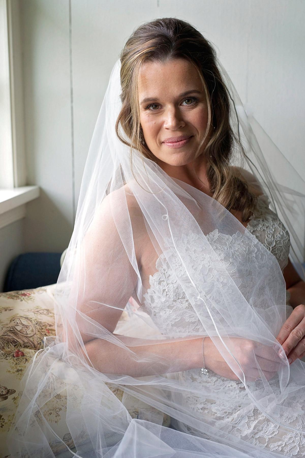 Portrait of bride at Woolverton Inn