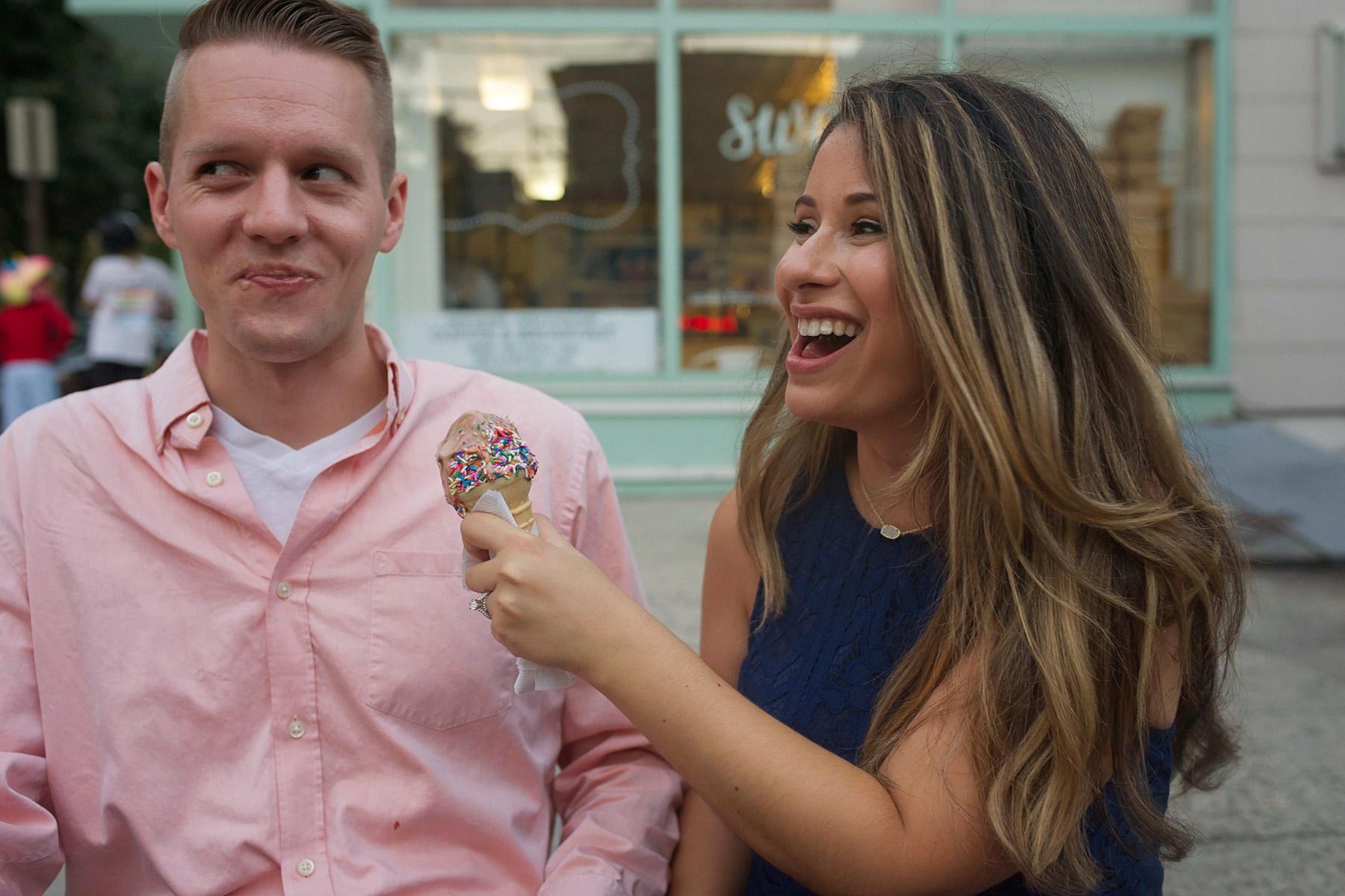 Hoboken_engagement_photographer_couple_shares_an_ice_cream_cone.JPG