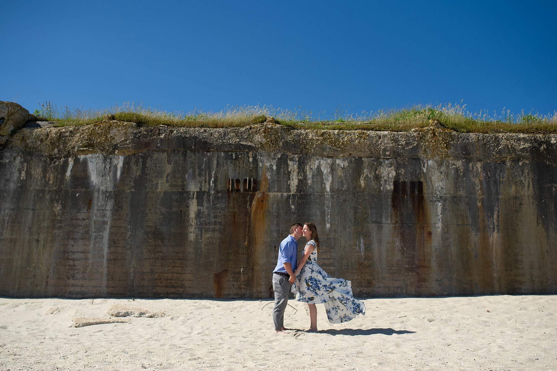 couple engaged on the beaches of cape may