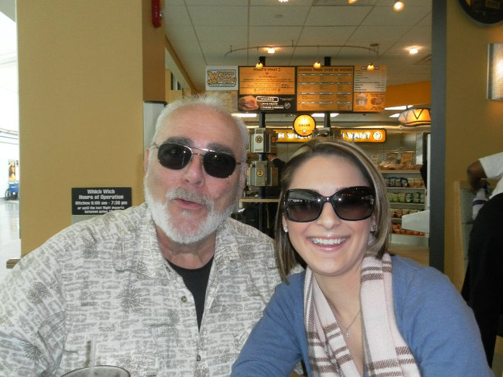Grandpa and I looking cool in the airport before heading home to AZ