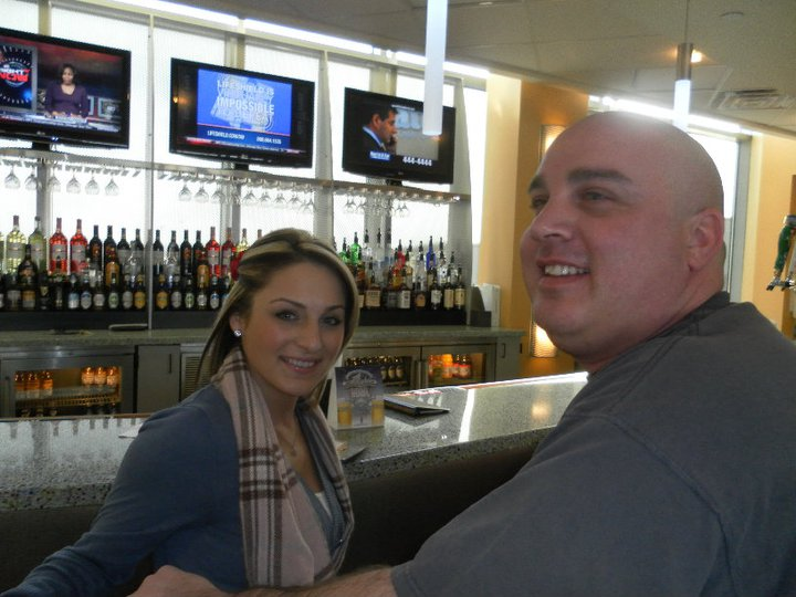 Uncle Matt and I enjoying a cocktail before flying back to Phx