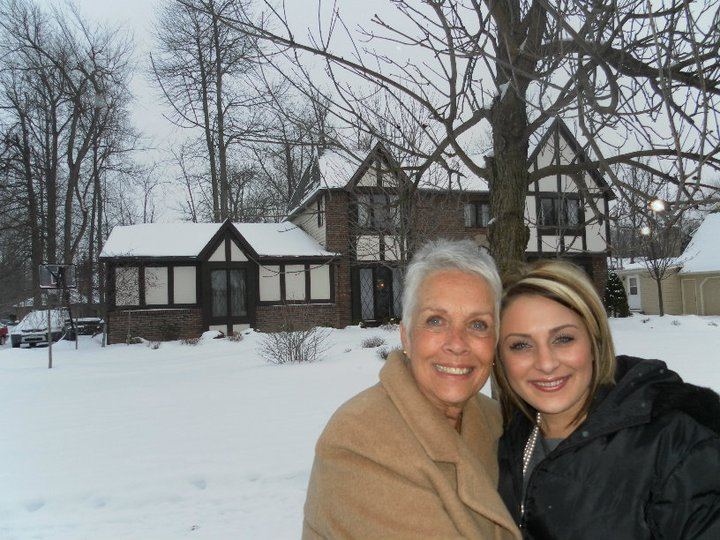 Nana and I standing in front of one of the homes my Grandpa had built. This is where my dad and uncles grew up