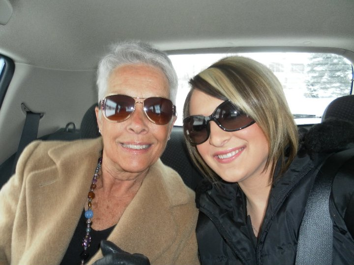 My Nana on our way to visit their old neighborhood