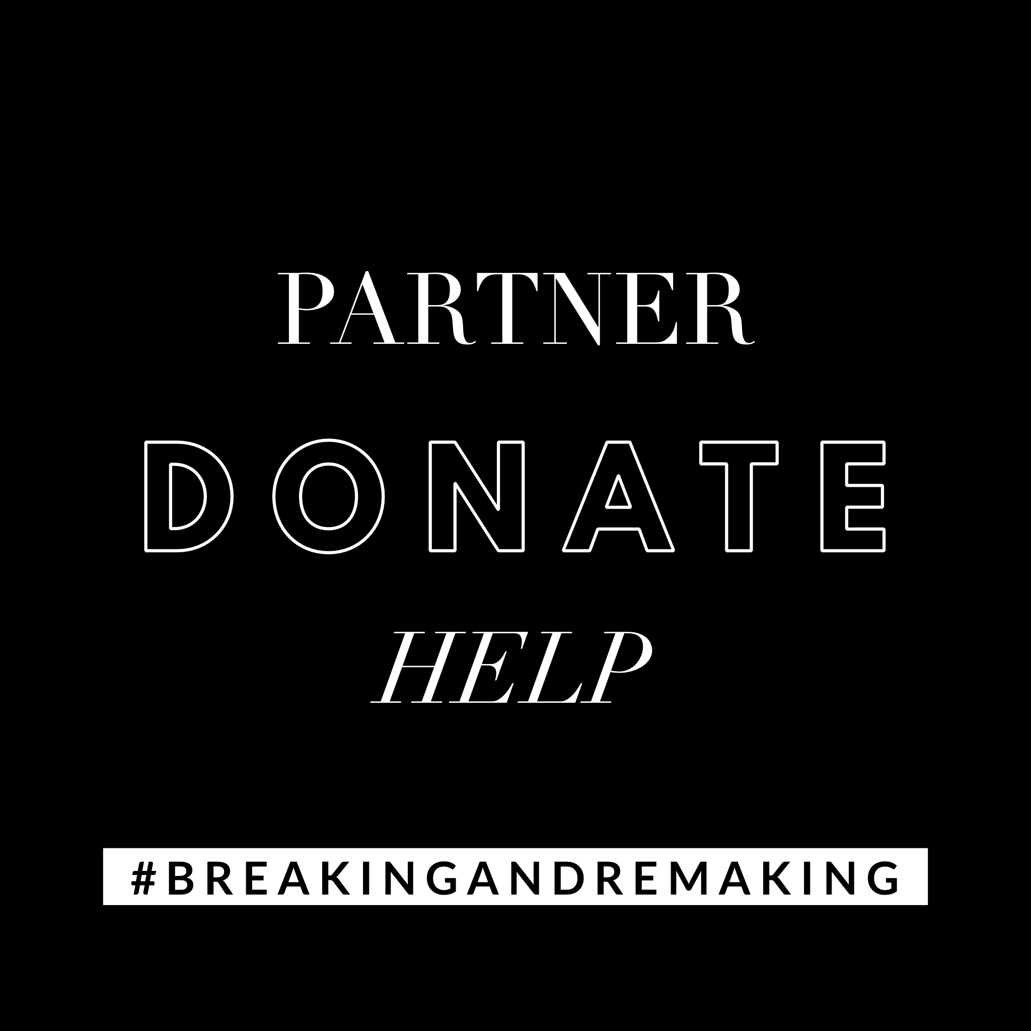 Donate to the mission of breaking and remaking book release