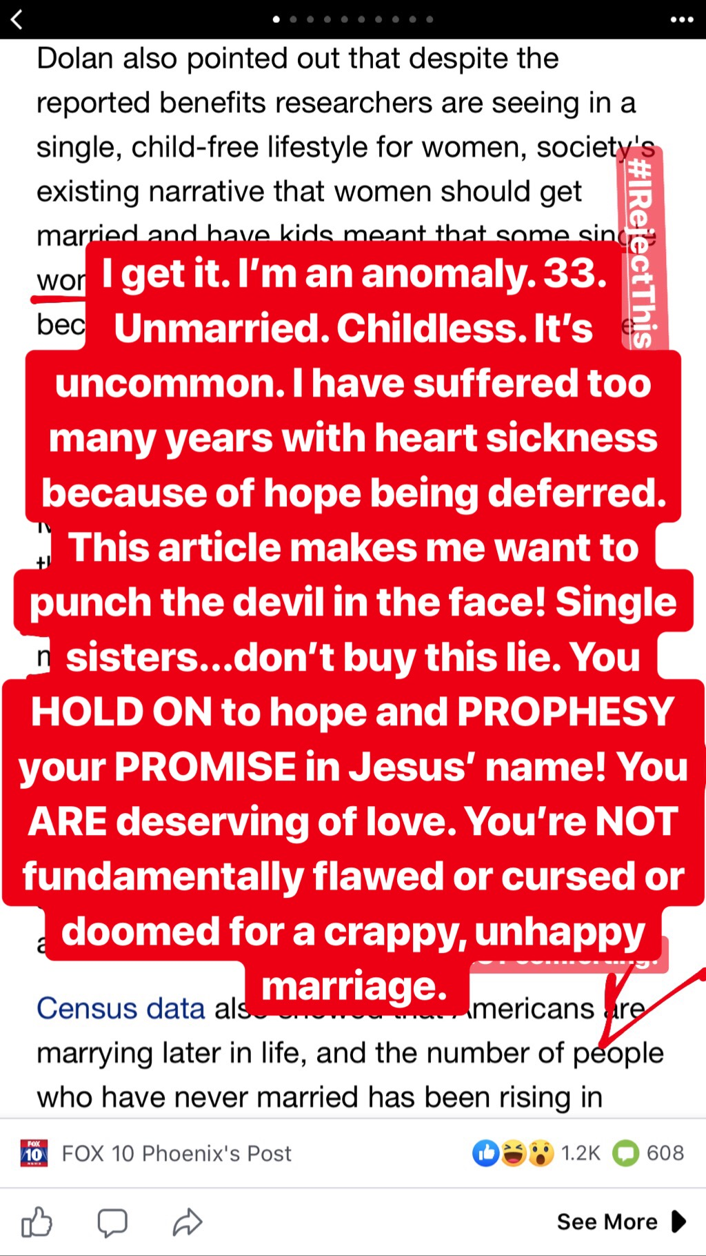 Encouragement to Single and Childless