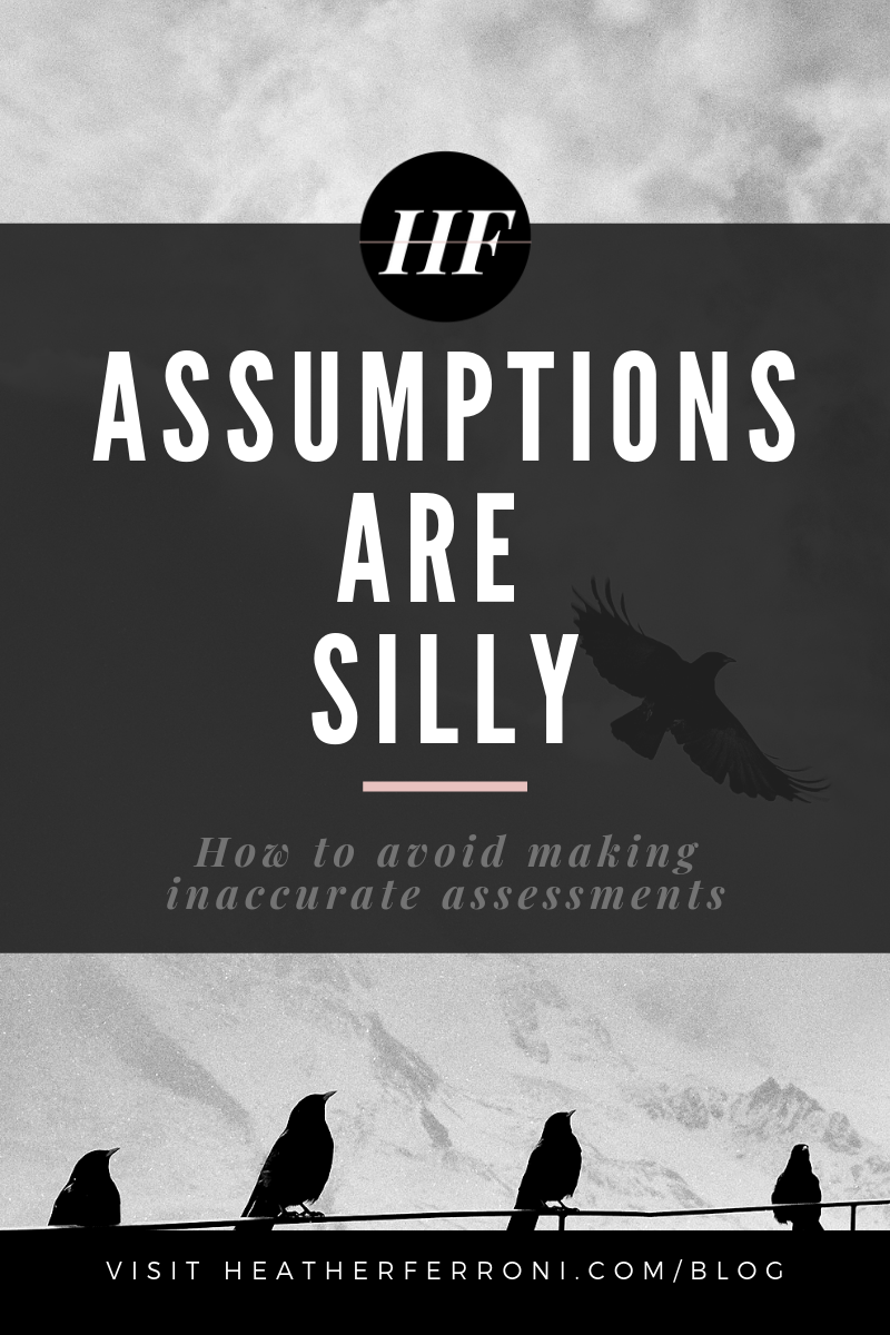 assumptions are silly