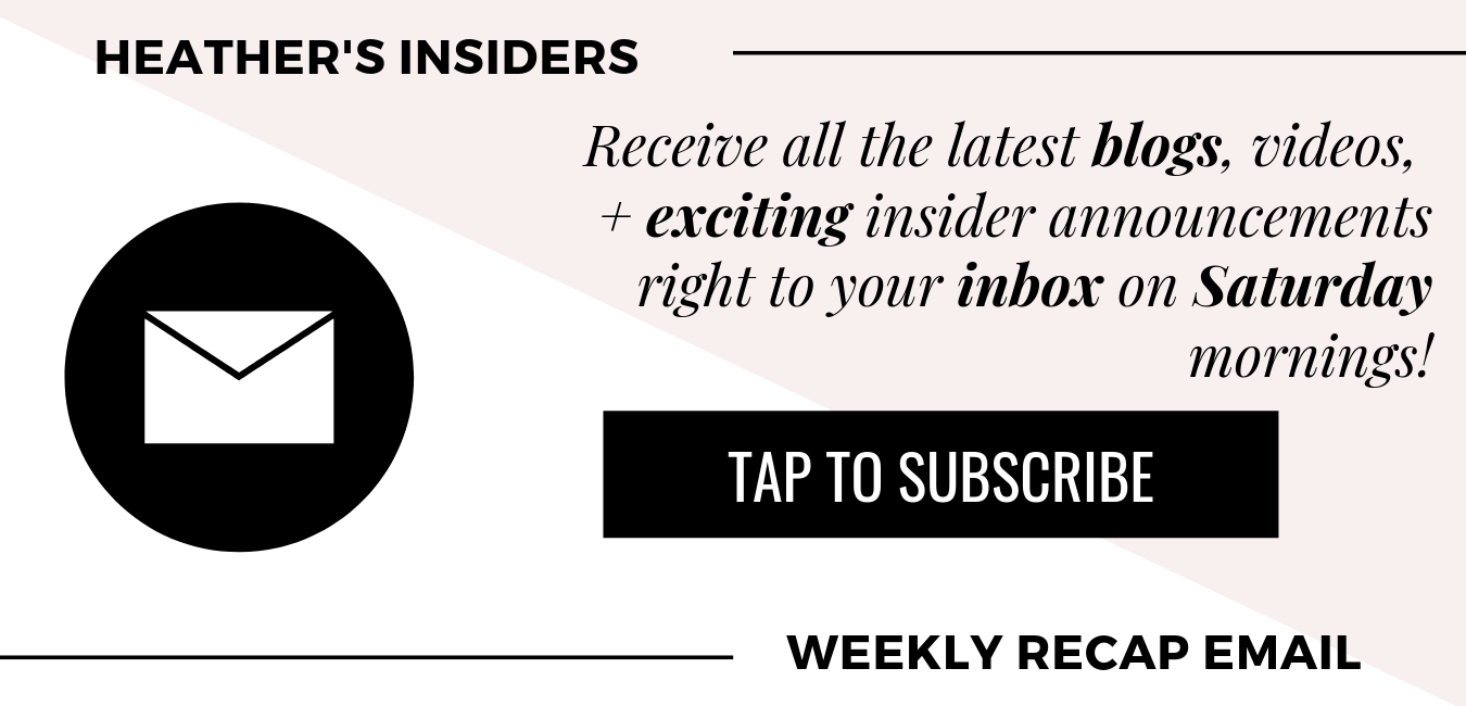 Subscribe for Weekly Email Updates from Heather Ferroni