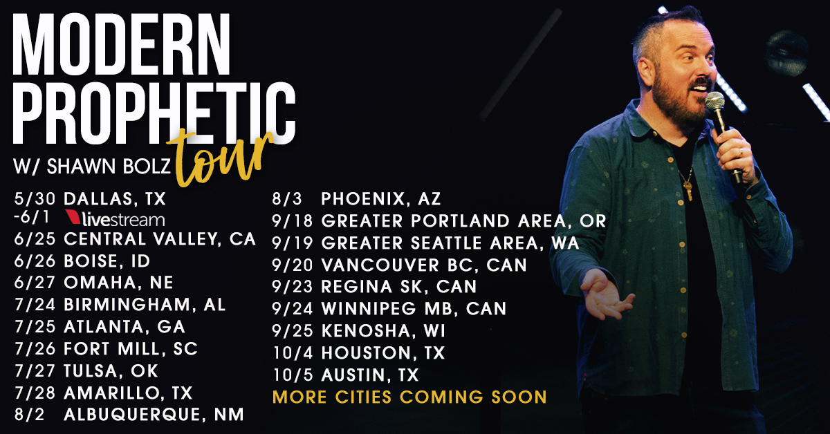 Shawn Bolz Modern Prophetic Tour 2019 Cities Image