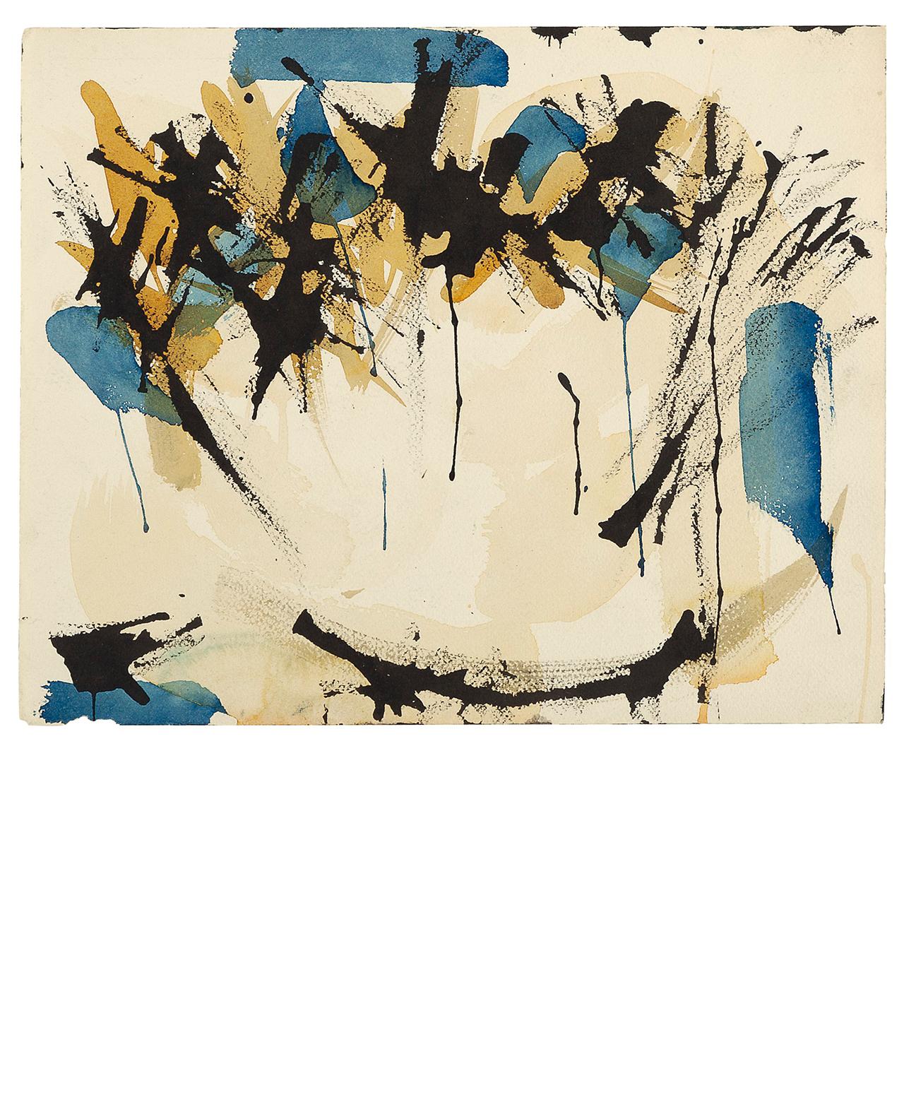 Untitled (Blue, Black and Ochre), circa 1950