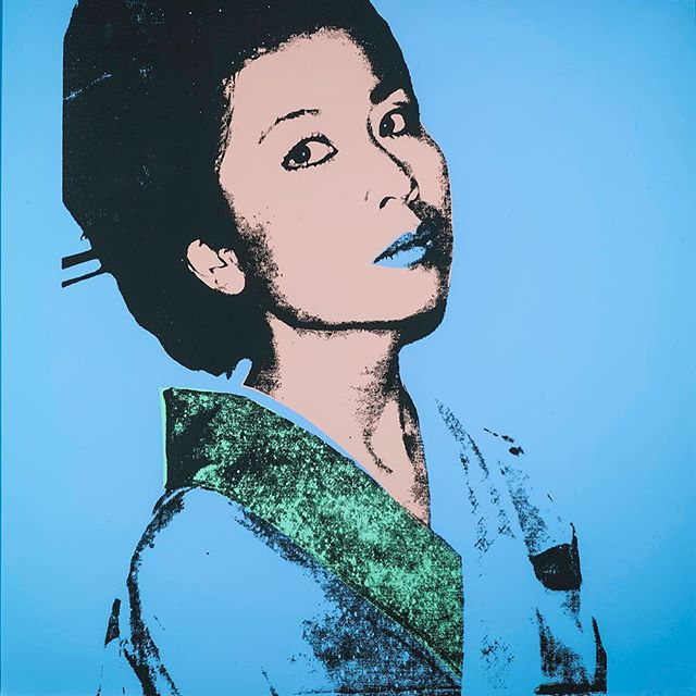 Available now. DM for more info! #andywahol #kimikopowers #popart #warhol #silkscreen #1980s #portrait