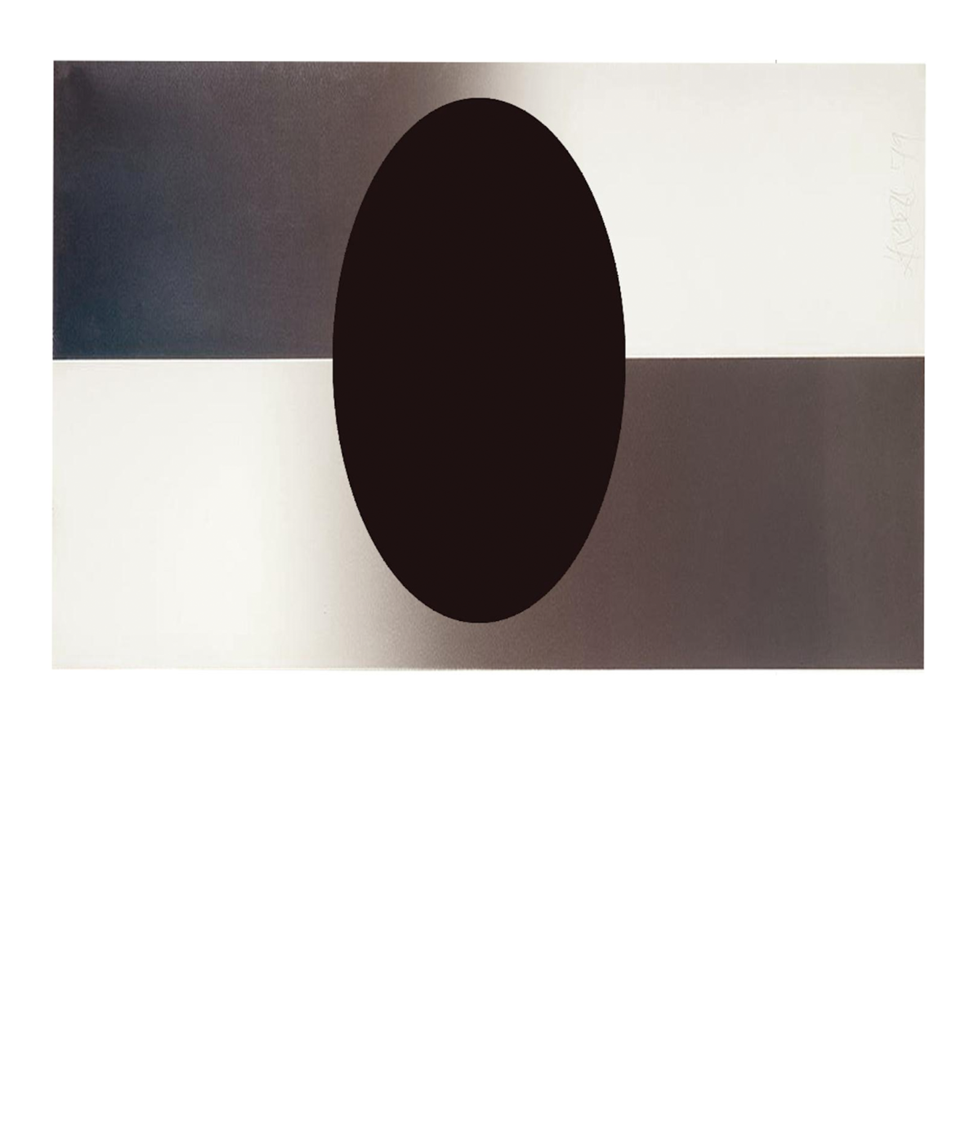 Untitled (Horizontal Fade Ellipse), 1984