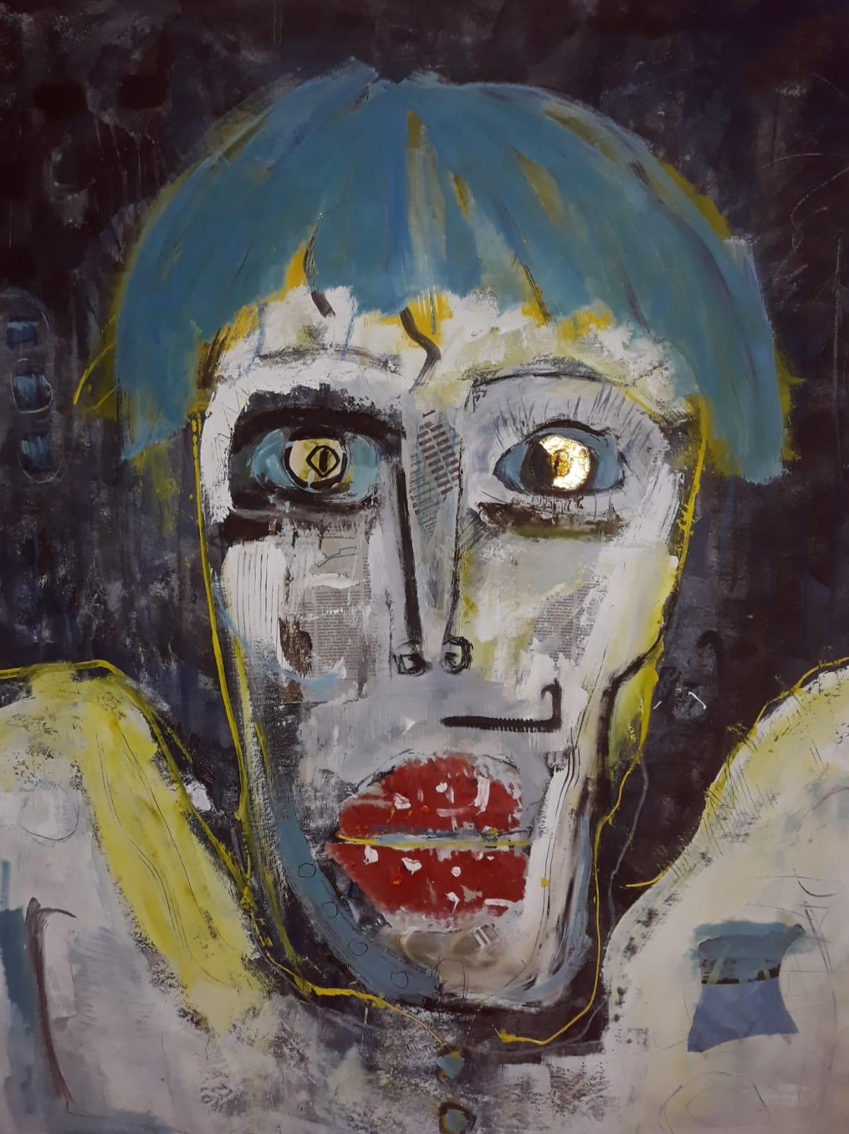 Omaggio a Andy Warhol ( Col Baffo di Dalì)- Tecnica mista su tela 100x120 (2012) .jpg