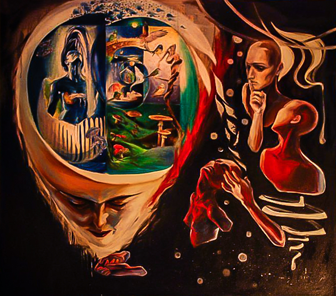 Matchbox Factory   Oil on Canvas 135 x 135 cm 2010