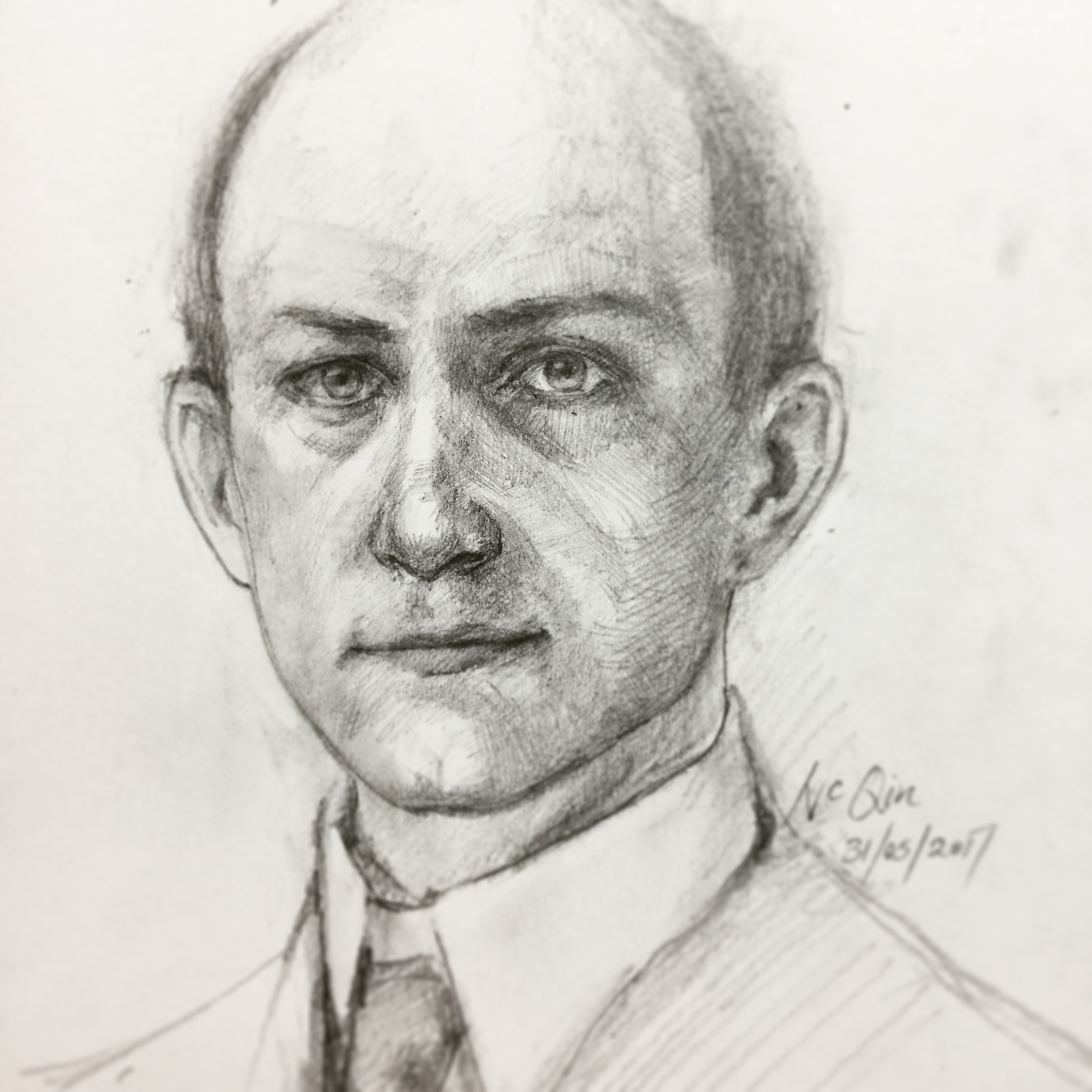 Wilbur Wright, 31/05/2017  Inspiration e Martë Series #1.5   Pencil Sketch