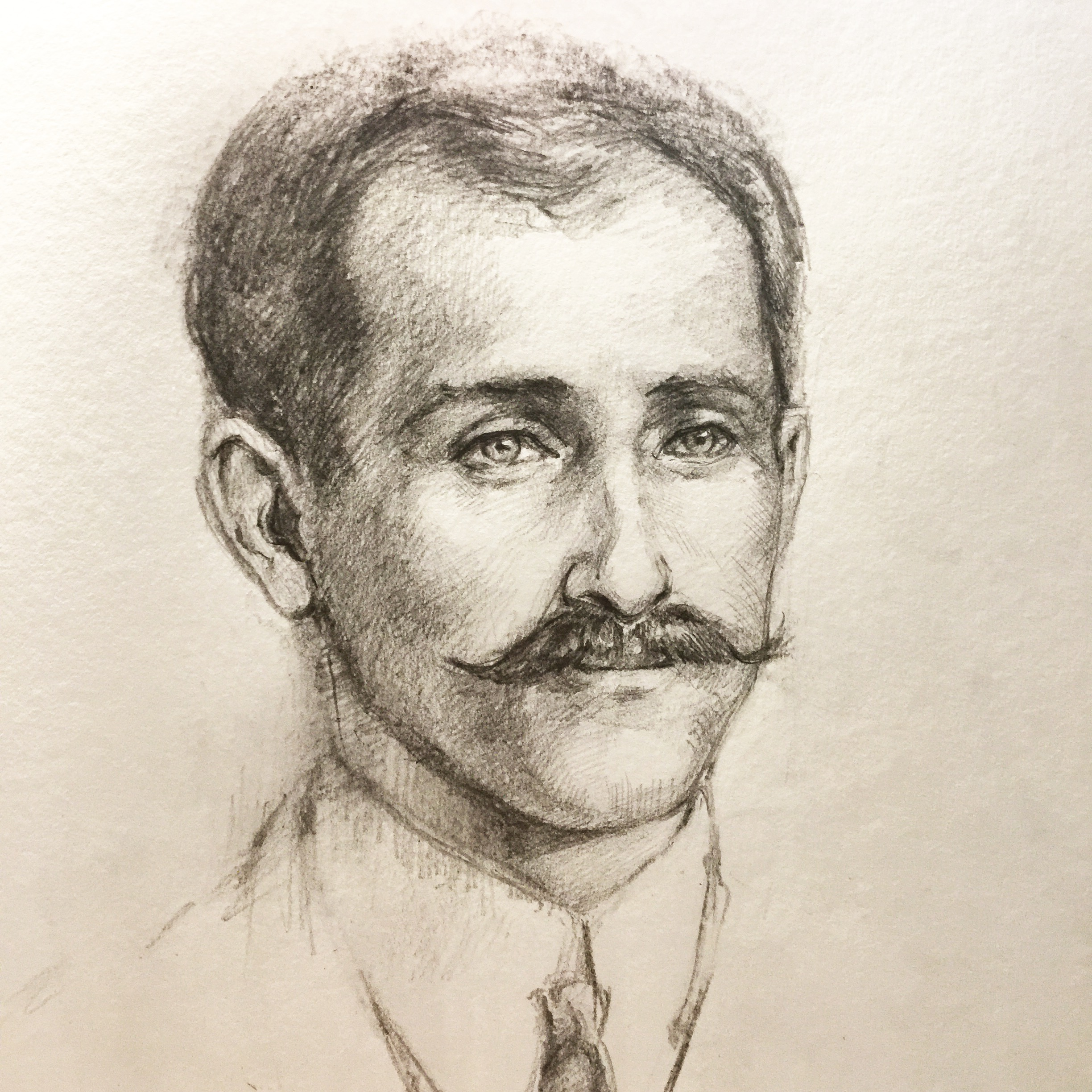 Orville Wright, 29/05/2017  Inspiration e Martë Series #1 Pencil Sketch