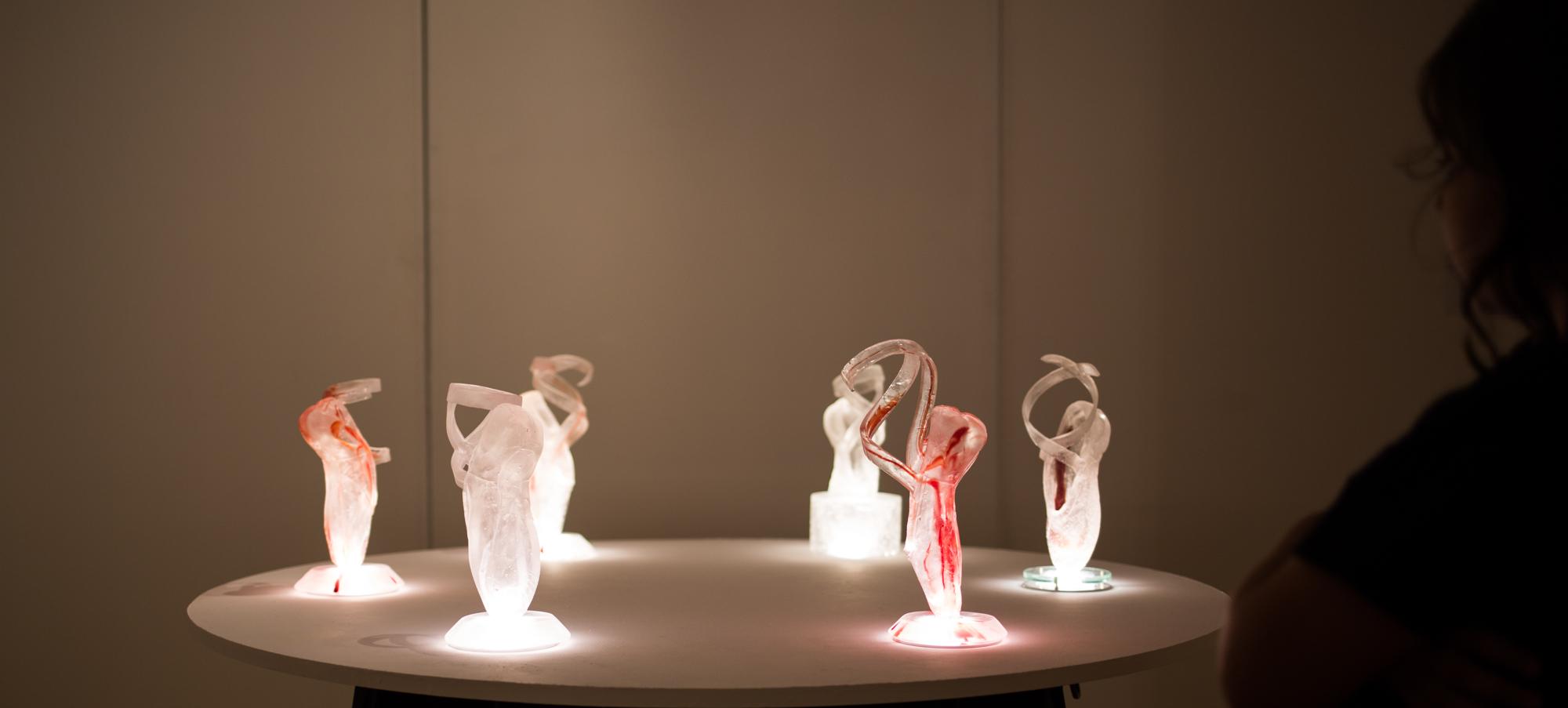 cast glass art ballet series persistence
