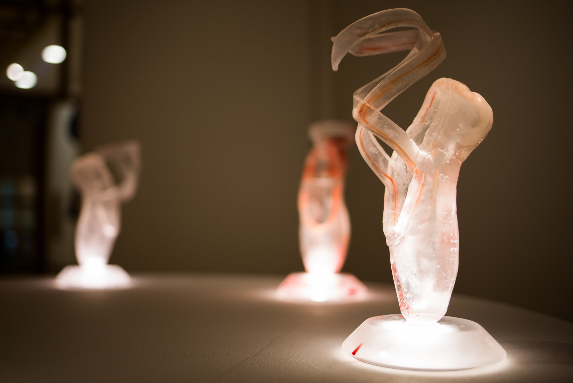 cast glass art ballet series persistence VI