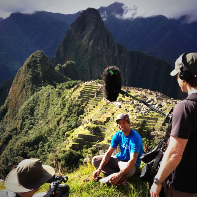 Mark with Richard Parks in Machu Picchu