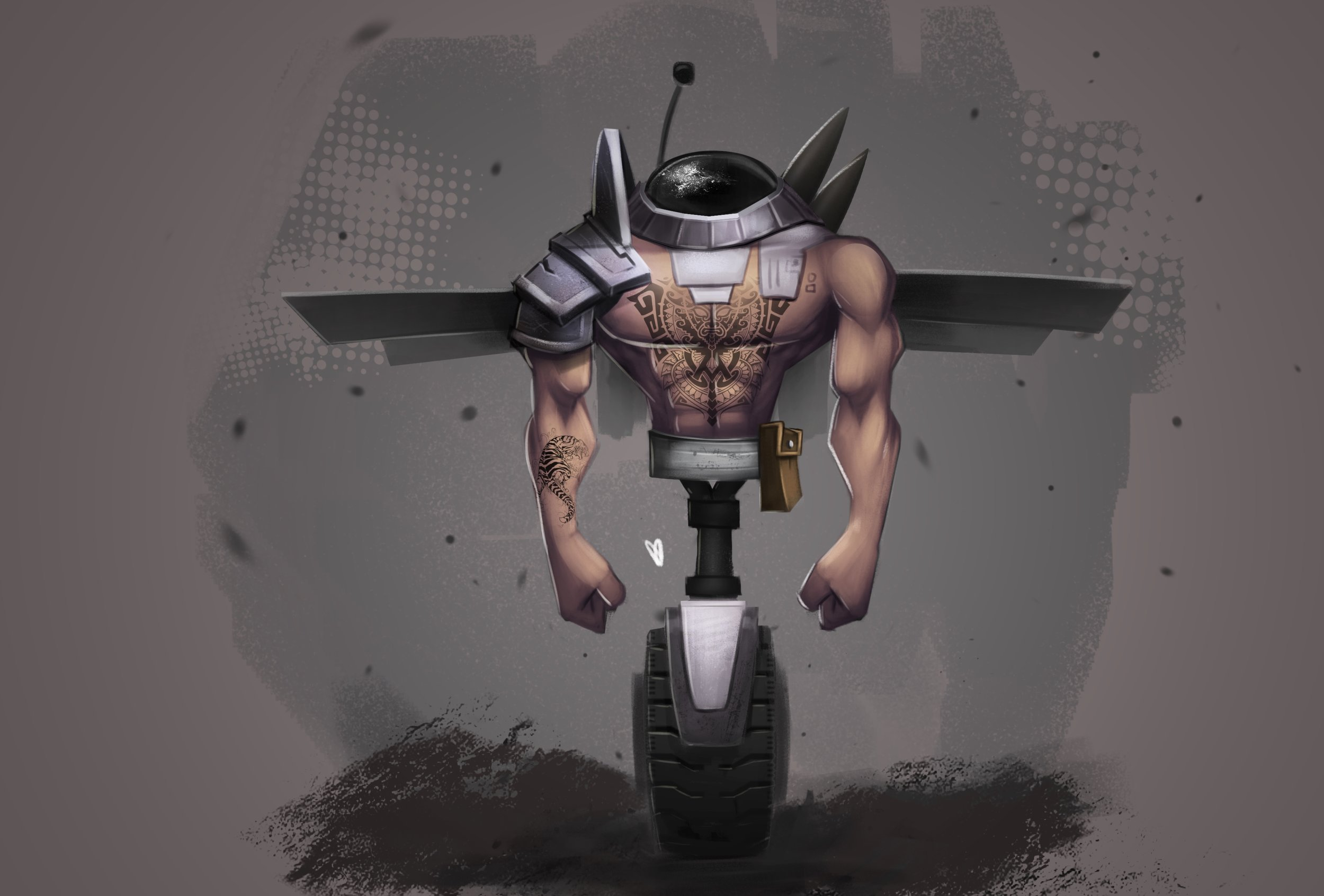 Fly bot concept art