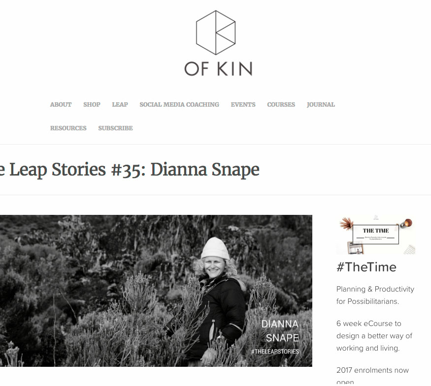 Ofkin - Leap Stories - I would certainly encourage anyone looking to leap to think carefully about choosing one or more mentors, and choosing the right mentors, not just someone who is available to you.