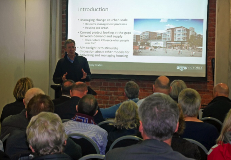 Gjerde presentation with audience
