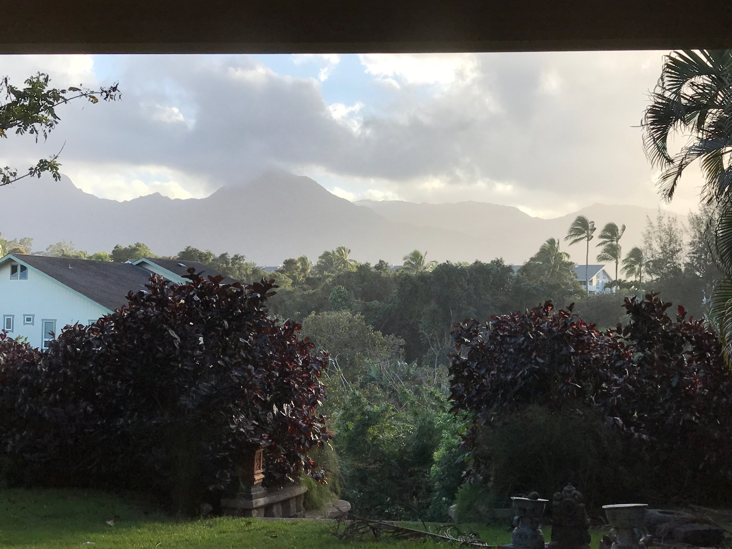 View of the beautiful mountains from our backyard for the next few days