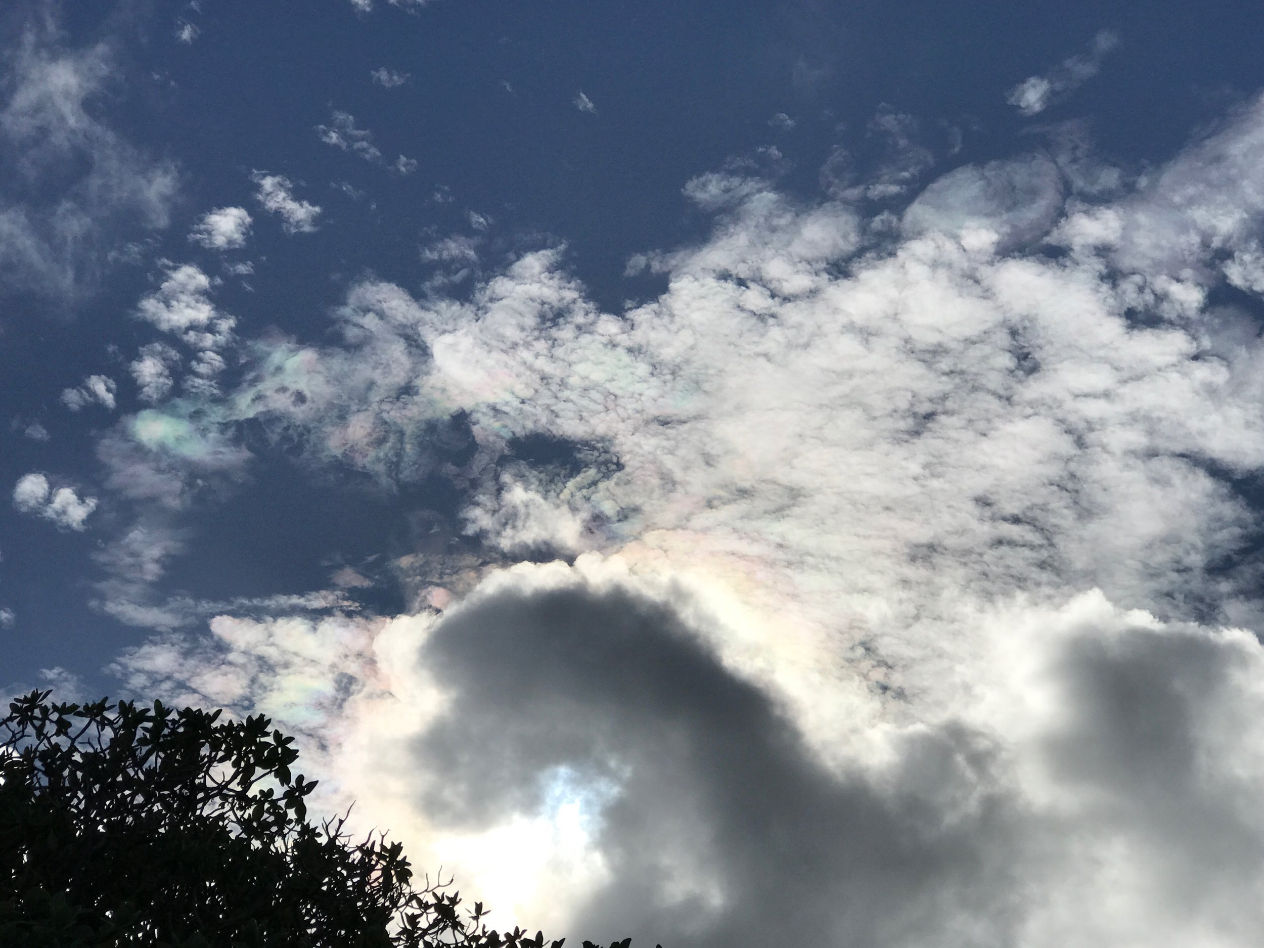 Amazing rainbow clouds in the magical land of Kauai