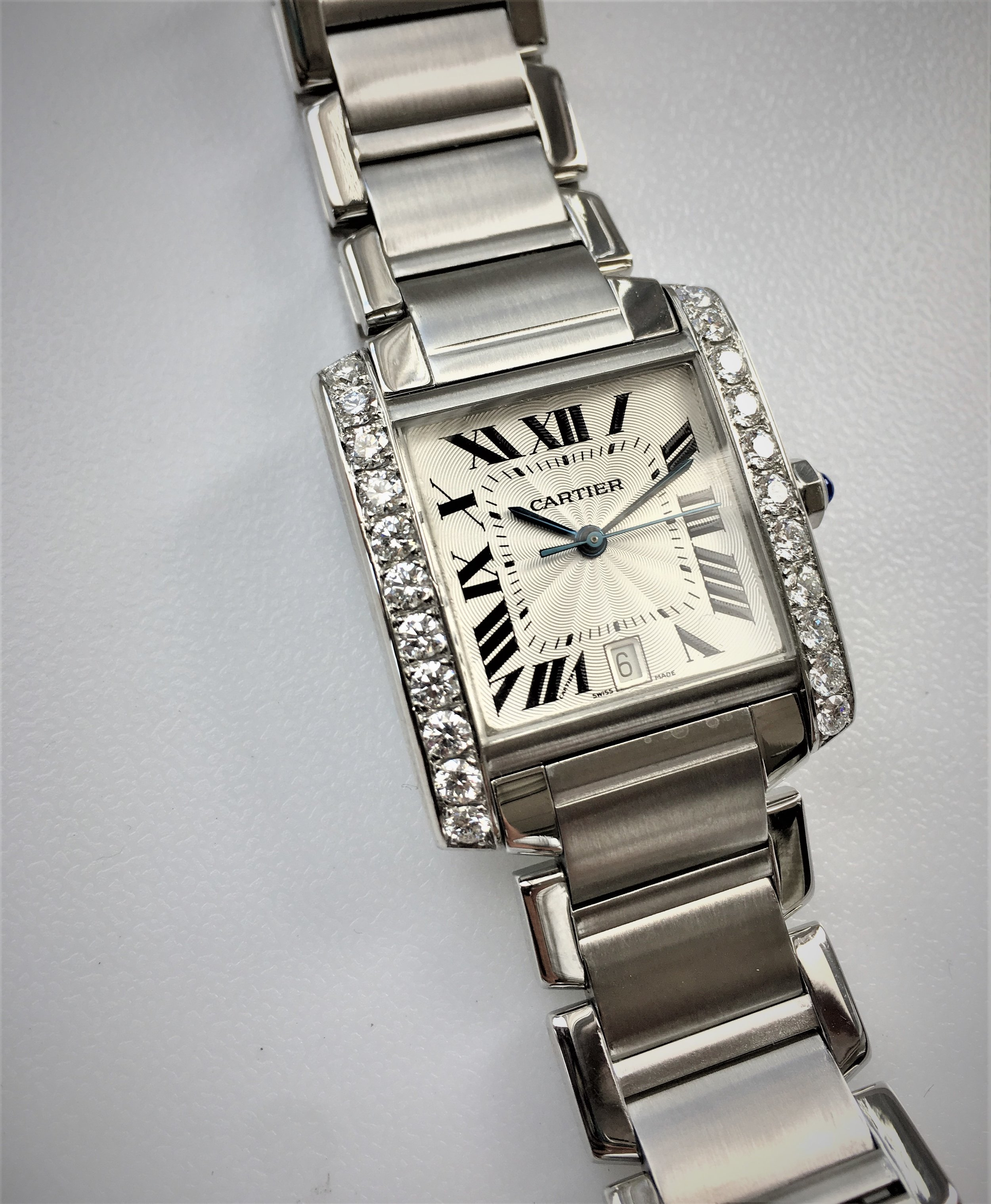 Watch Cartier Diamond . Tampa jewelry store watch repair