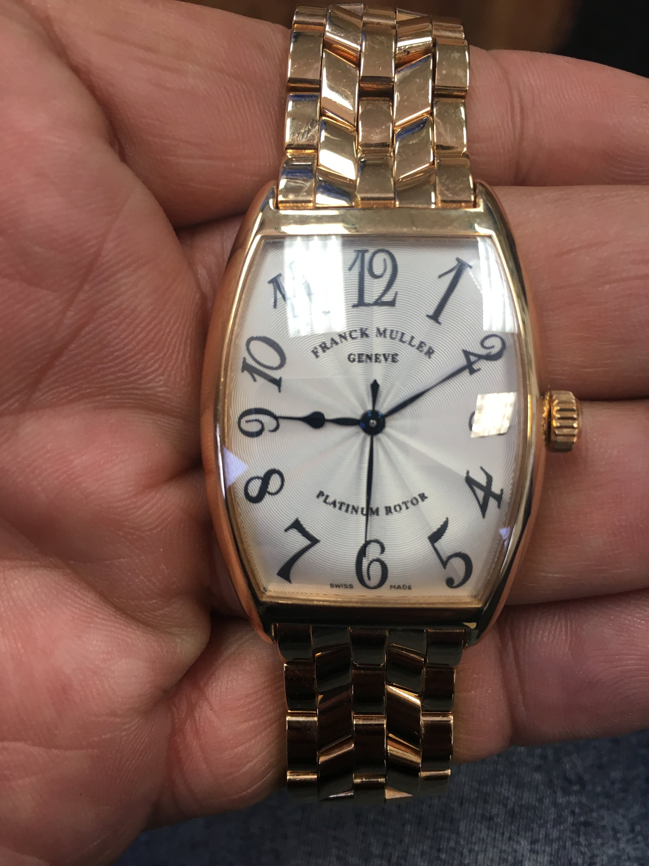 franck muller geneve platinum rotor. Tampa jewelry store watch repair