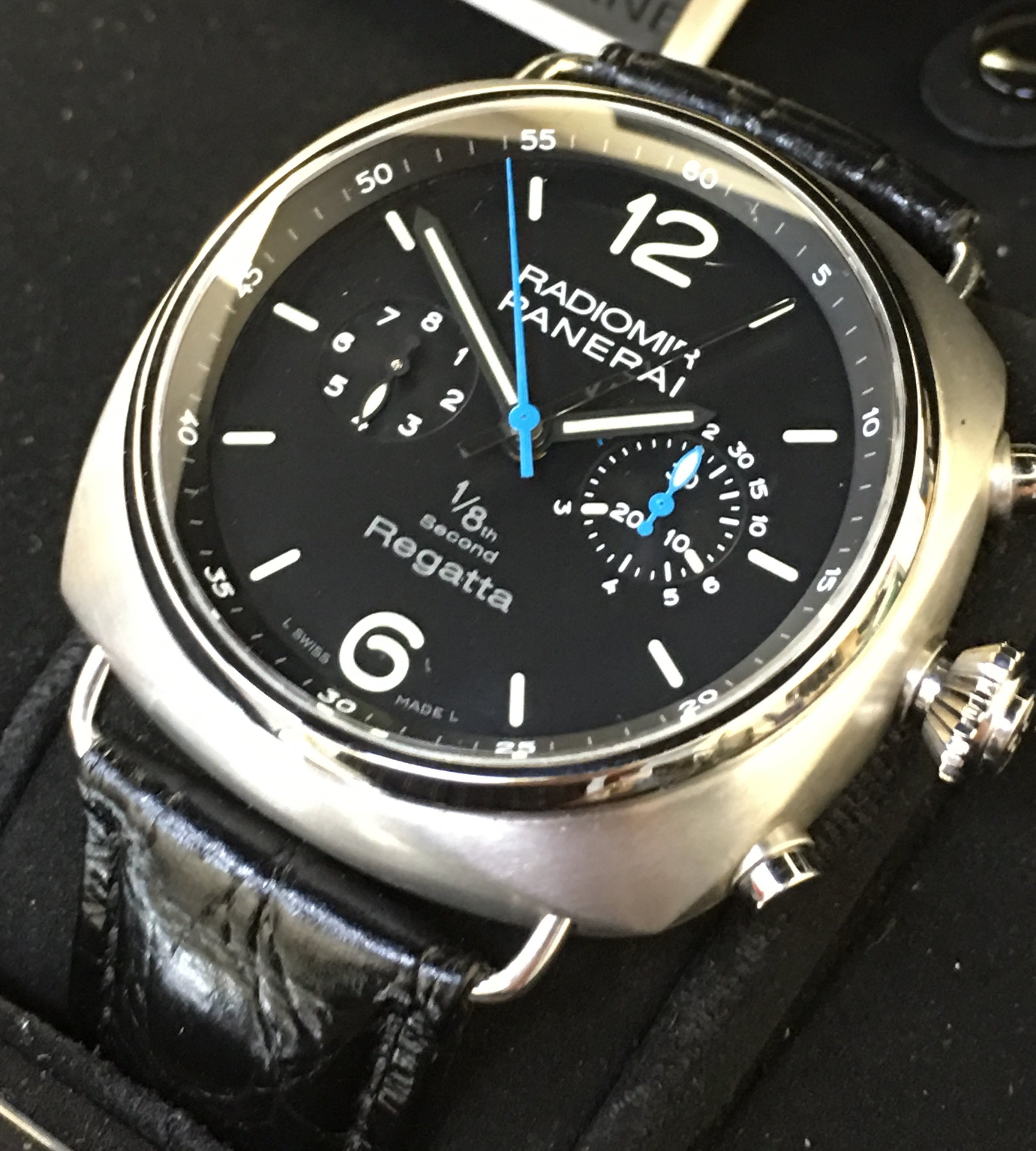 Watch Radiomir Regatta Panerai 1/8 th Second  . Tampa Jewelry Store Watch Repair.